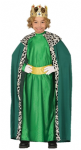KING WISE MAN IN GREEN WITH CLOAK AND CROWN NATIVITY COSTUME